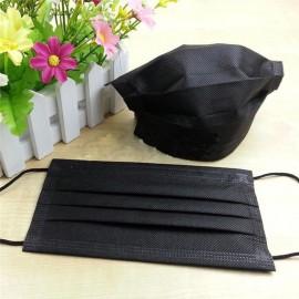 Siyah 3 Katlı Telli 50 Adet Cerrahi Maske  Full Ulturosonik AMOUR STORE