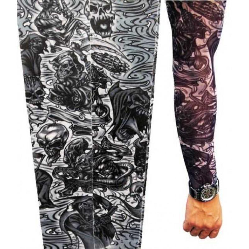 AMOUR STORE Tattoo İskelet Motifli Giyilebilir Dövme