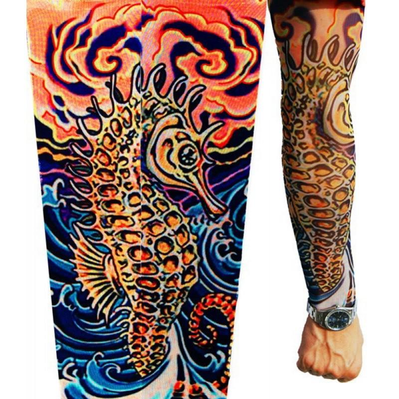 Amour Store Tattoo Deniz atı Motifli Giyilebilir Dövme