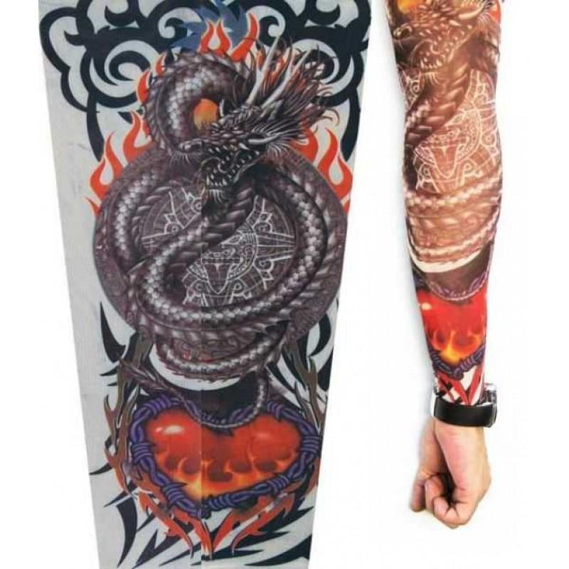 Amour Store  Ejderha Desenli Giyilebilir Dövme.