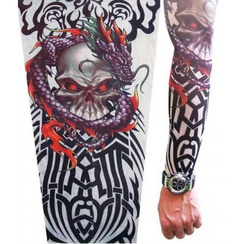 AMOUR STORE  Tattoo Giyilebilir Dövme İskelet Motifli