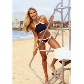 AMOUR STORE   Lacivert Özel Tasarım Tankini Bikini
