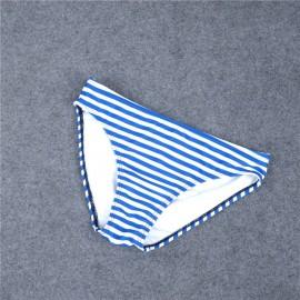 AMOUR STORE  Mavi Cizgili Şık Bikini Alt
