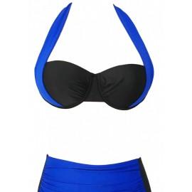 AMOUR STORE  Mavi Siyah Bikini üst