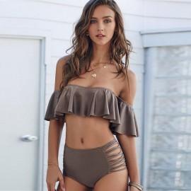 AMOUR STORE Kahverengi Çok Şık Bikini takım