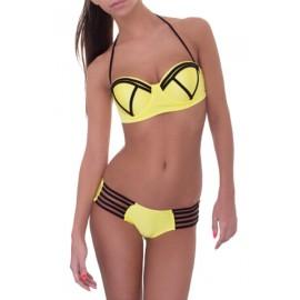 AMOUR STORE   Sarı Şık Tasarımlı Bikini