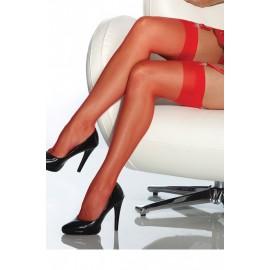 AMOUR STORE Kırmızı Dantelsiz Jartiyer Çorabı