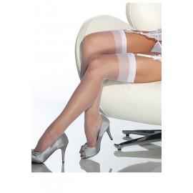 AMOUR STORE Beyaz Dantelsiz Jartiyer Çorabı